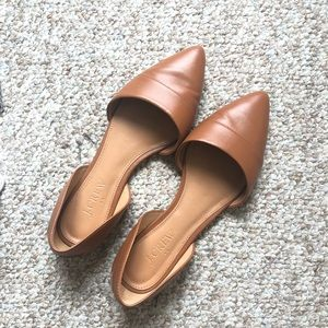 J. Crew Brown Pointed Toe Flat